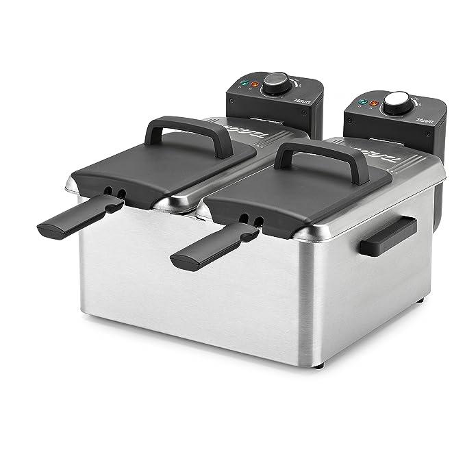 Nova Double Fryer Freidora Doble, 3600 W, Plateado: Amazon ...