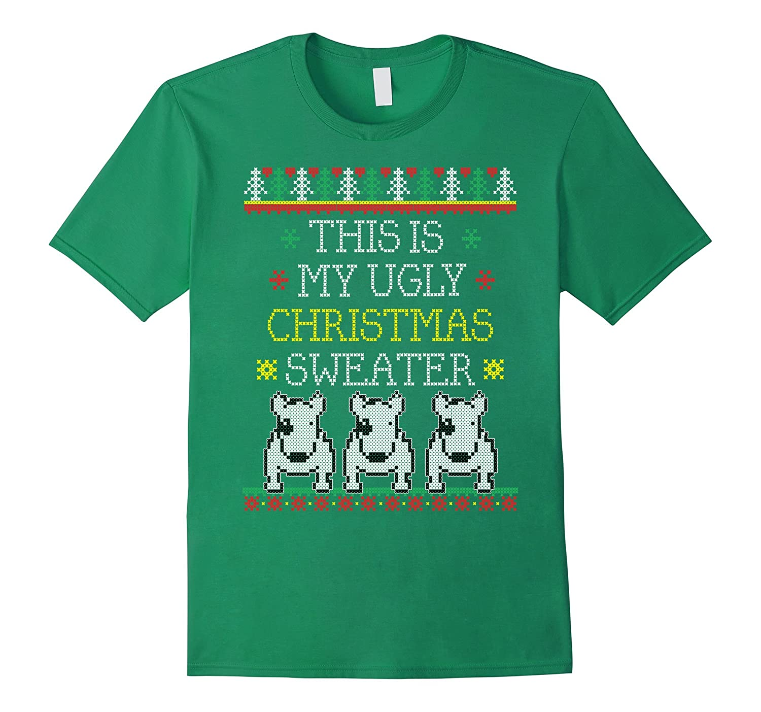 This is my Ugly Christmas Sweater Tee with 3 Pit Bulls-ANZ