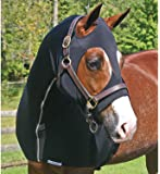 UltraFlex Equine Zipper Sleazy Hood | Various Sizes and Colors | Fully Separating | Lycra Keeps Face and Neck Clean | Extra Large Eye Holes | Slinky Covers Muzzle to Chest