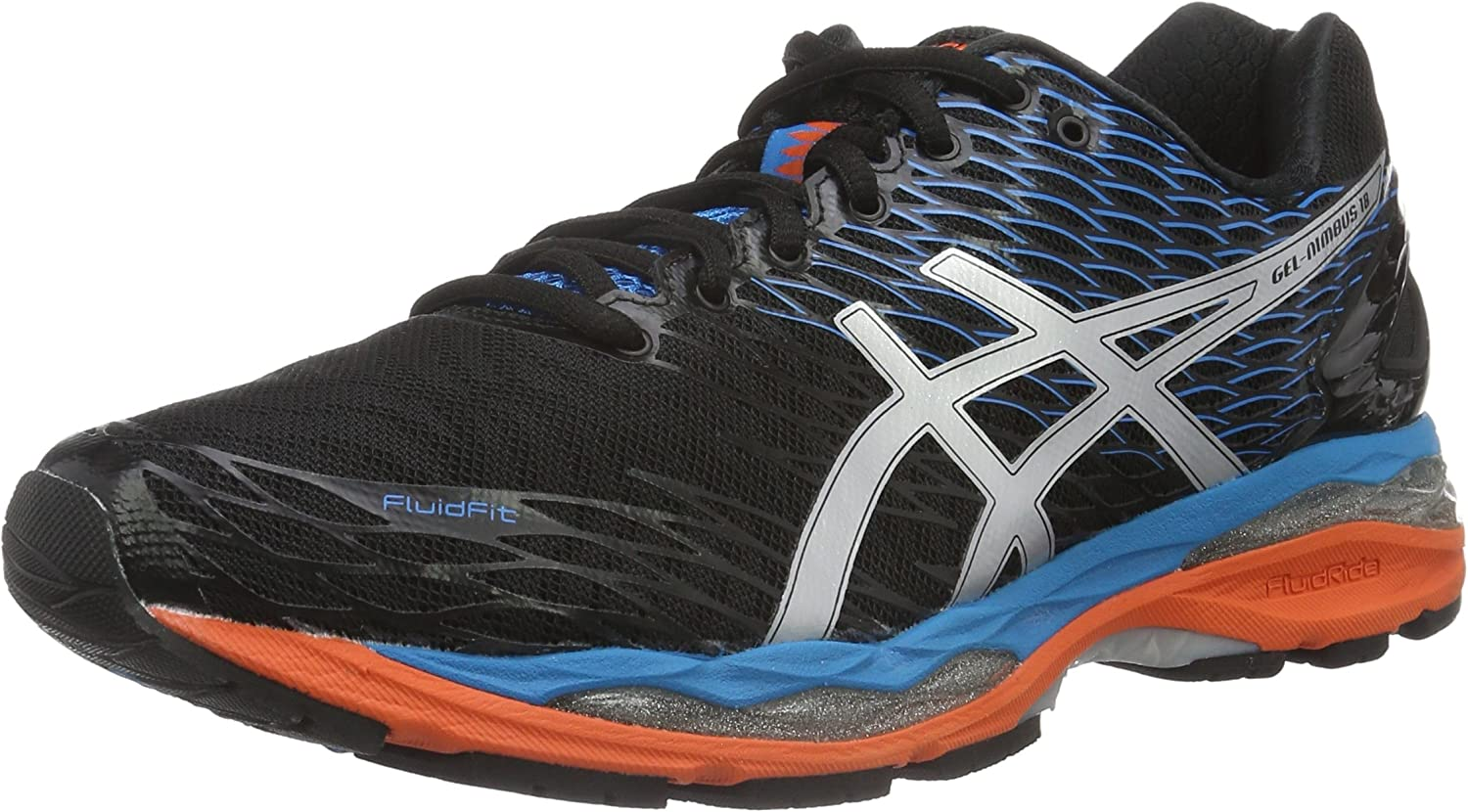 Asics Gel-Nimbus 18, Zapatillas de Running para Hombre, Multicolor (Onyx/Silver/Blue Jewel), 46 EU: Amazon.es: Zapatos y complementos