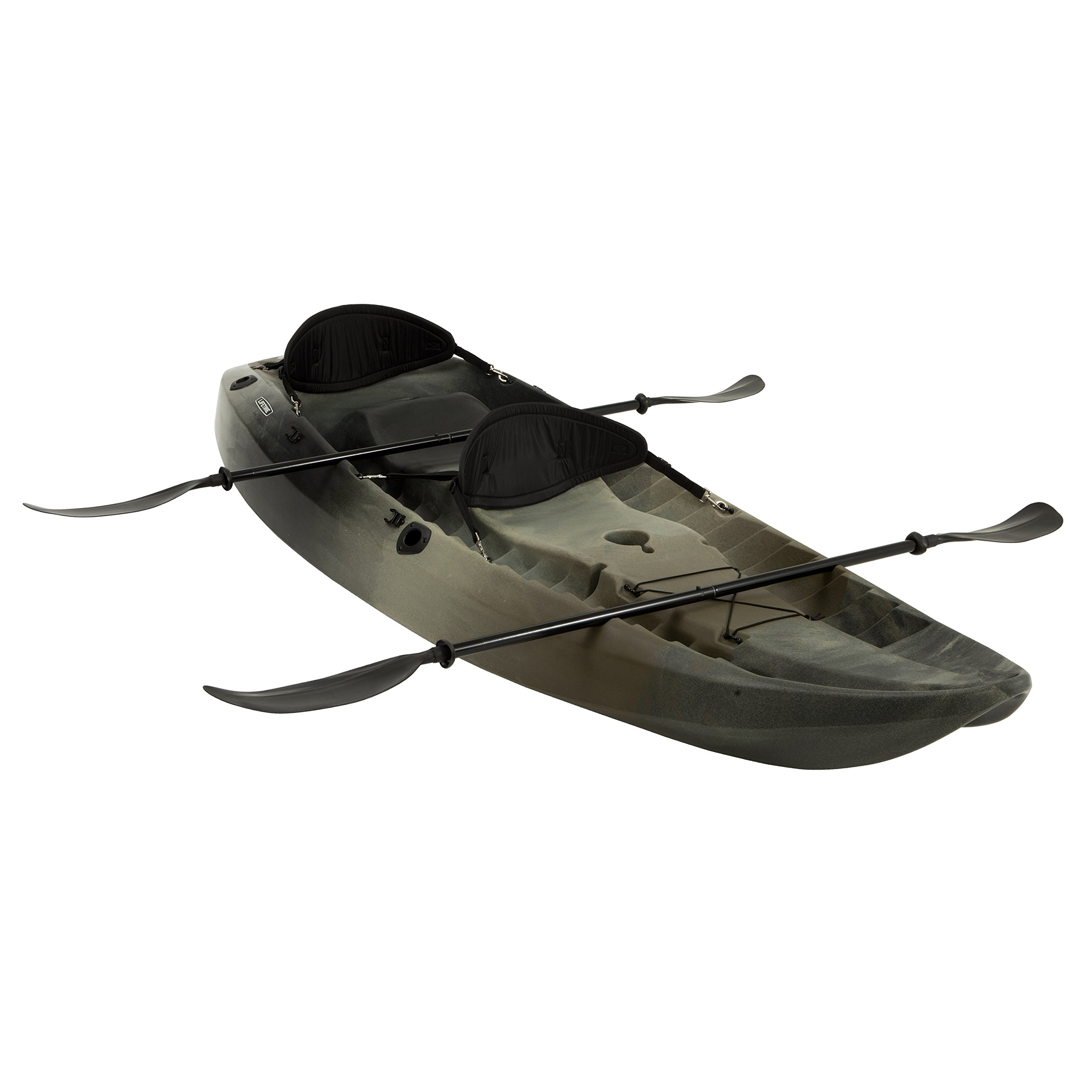 Lifetime Sport Fisher Tandem Kayak with Paddles and Backrest, Camouflage by Lifetime