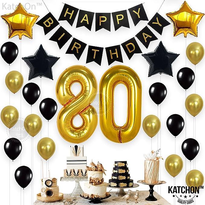 Amazon.com: 80o cumpleaños decoraciones suministros para ...