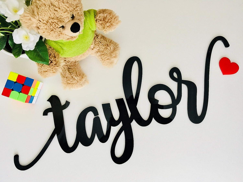 Personalised Wooden Name Sign MEDIUM Nursery /& Kids Decor Lasercut Name Plaque
