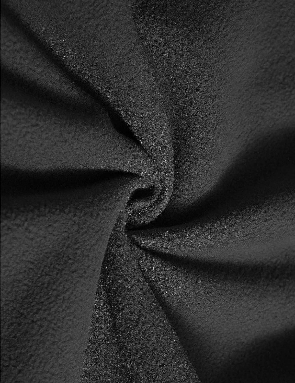 YFNT Manches Longue à Capuche Camouflage Softshell imperméable Homme pour Camping Chasse pêche Noir