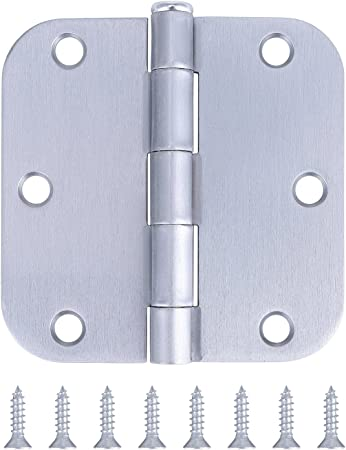 """White Prime 4/"""" with 5//8/"""" radius corner Spring Loaded Hinges Residential"""