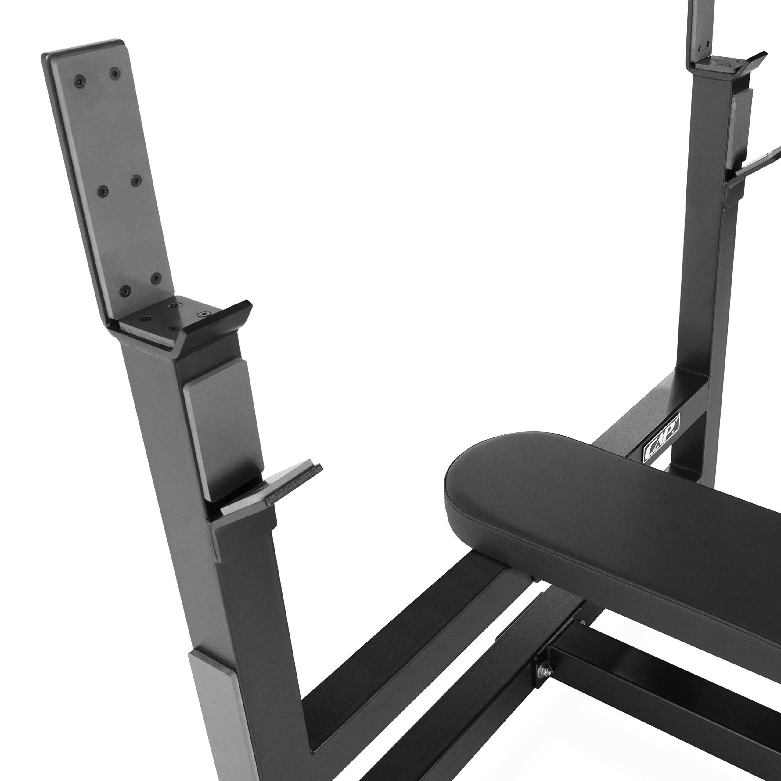 CAP Barbell 300-Pound Black Olympic Grip Set with Olympic Flat Bench by CAP Barbell (Image #3)