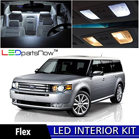 LEDpartsNow 2009 2017 Ford Flex LED Interior Lights Accessories Replacement  Package Kit (8 Pieces