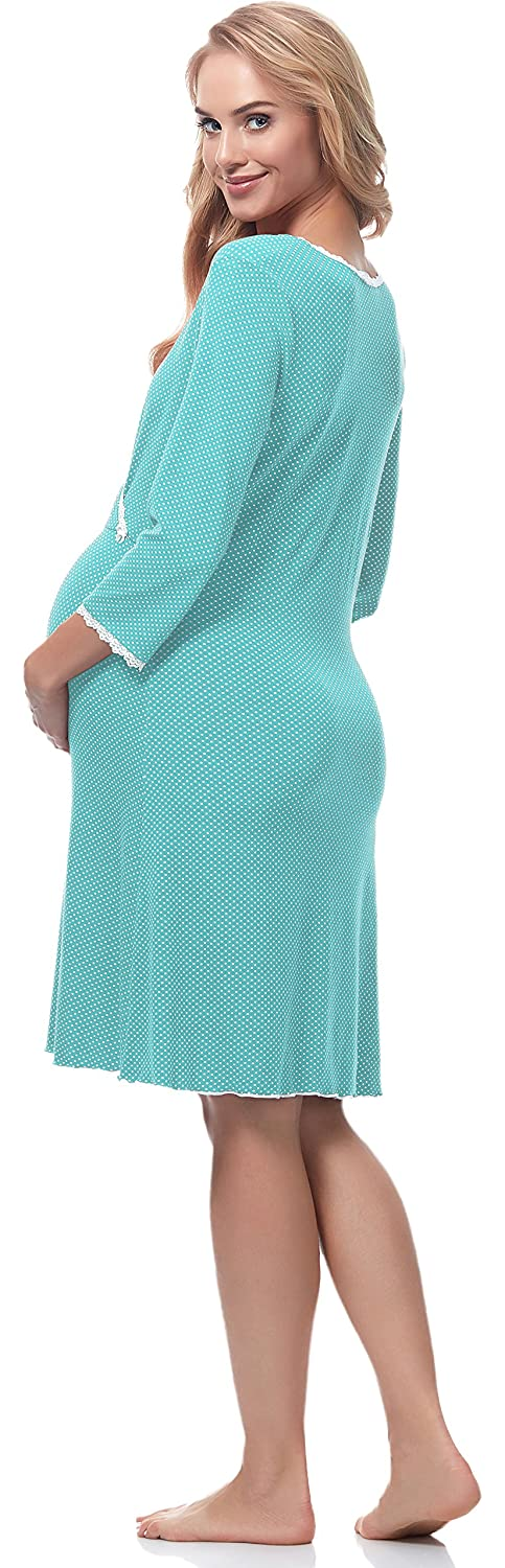 Be Mammy Womens Maternity Nightdress with Nursing Function BE20-196