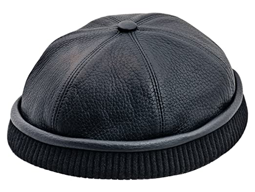 Sterkowski Genuine Leather Docker Leon Beanie Cap at Amazon Men s ... 046ded93f8f
