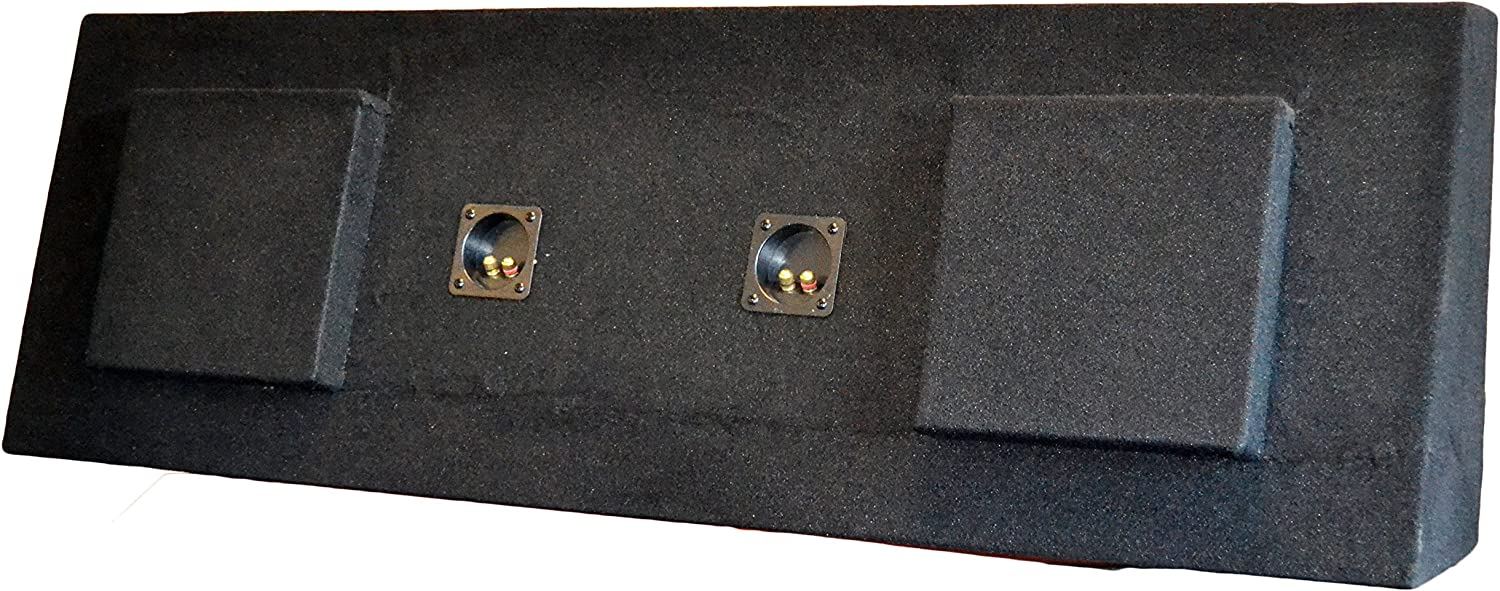 "SoundBox Silverado// Sierra Crew Cab Dual 12/"" Subwoofer Enclosure Box 2008-2013"