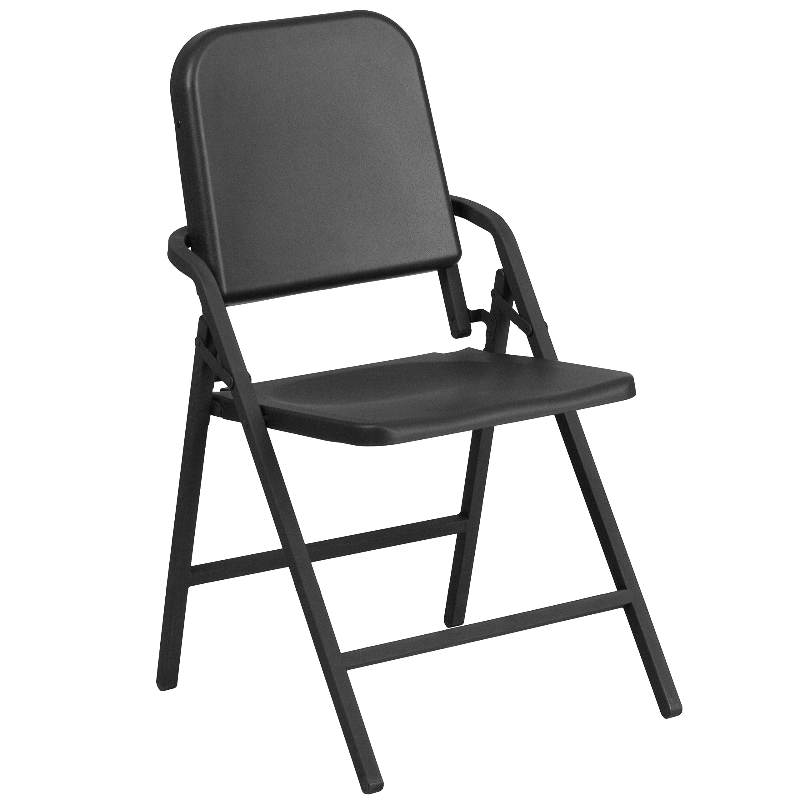 Flash Furniture HERCULES Series Black High Density Folding Melody Band/Music Chair
