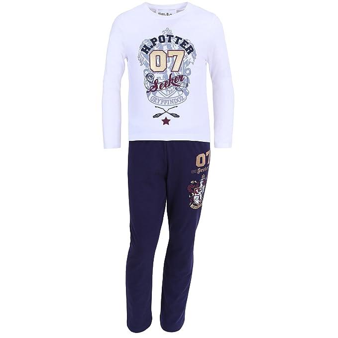Pijama de color blanco y azul marino HARRY POTTER - 7-8 Años 128 cm