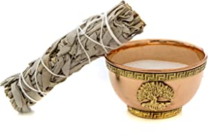 Alternative Imagination Tree of Life Copper Offering Bowl Kit. Includes Sand and California White Sage
