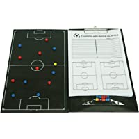 Trademark Innovations Soccer Magnetic Clipboard with Marker Pieces - Perfect to Coach Soccer by