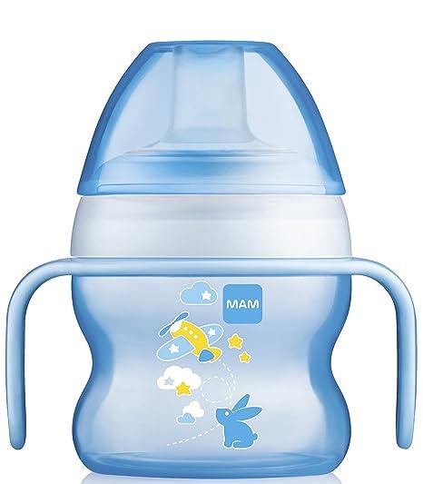 Amazon.com: MAM sin BPA 5 Onza Starter Taza, color azul, Boy ...