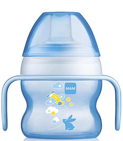 Amazon.com: MAM sin BPA 5 Onza Starter Taza, color azul, Boy ...