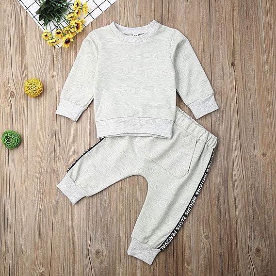 Pantalons Manches Longues Pullover Sport Ensemble Automne Hiver 1-10 Ans Snyemio B/éb/é Gar/çons Sweat Shirt /à Capuche