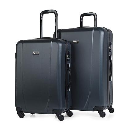 ITACA - Juego Maletas de Viaje Rígidas 4 Ruedas Trolley 65/75 cm ABS. Cómodas y Ligeras. Mediana y Grande XL. Estudiante y Profesional. Calidad y ...