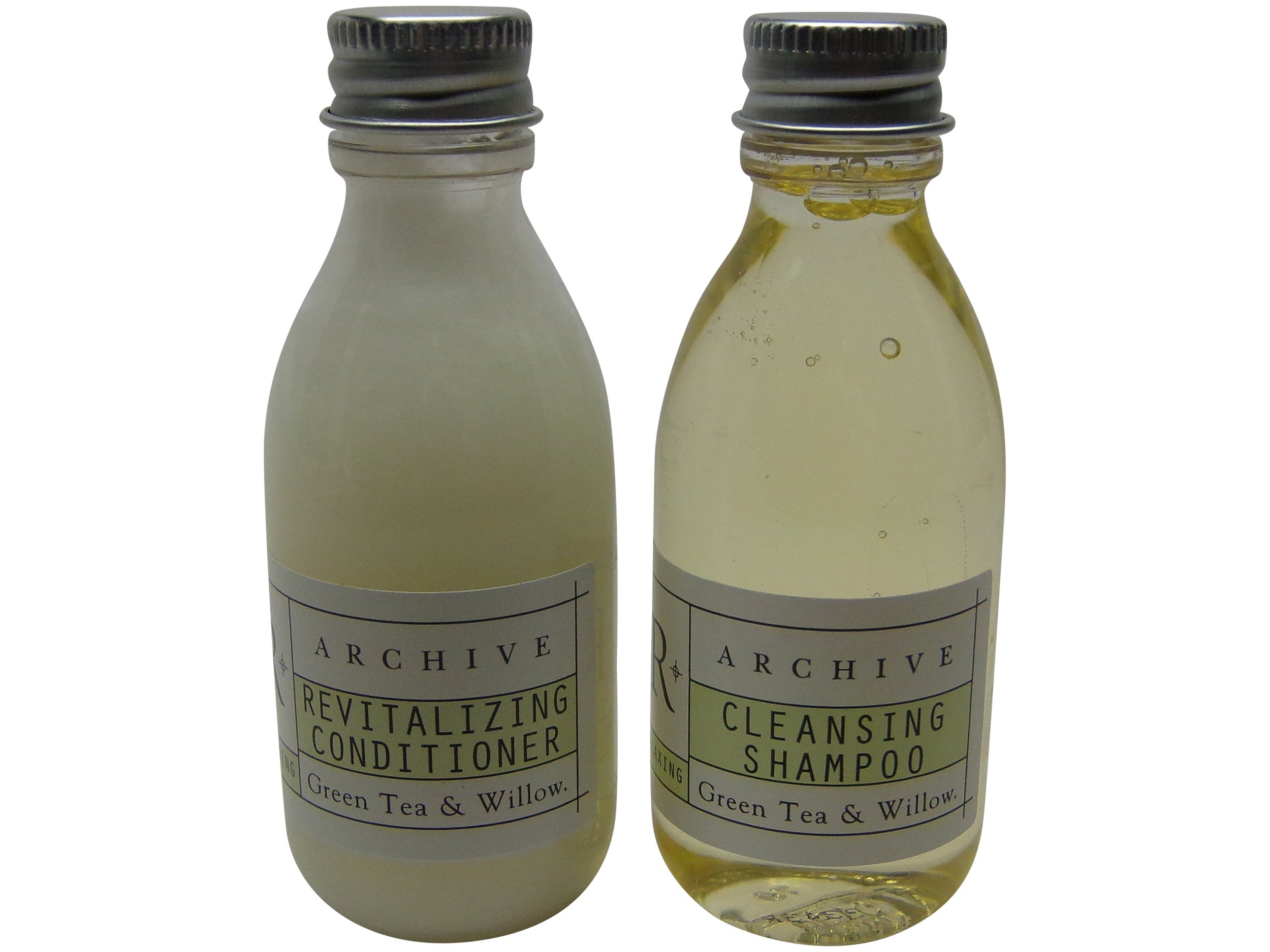 d15c30c0368 Amazon.com   Archive Green Tea   Willow Cleansing Shampoo and Conditioner  lot of 12 Bottles 6 of Each 1.5oz Bottles. Total of 18oz   Hair Shampoos    Beauty