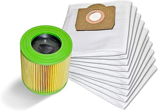 10 bolsas de aspiradora + filtro de cartucho compatible con Kärcher 6.959-130.0 WD 3 MV 3: Amazon.es: Hogar