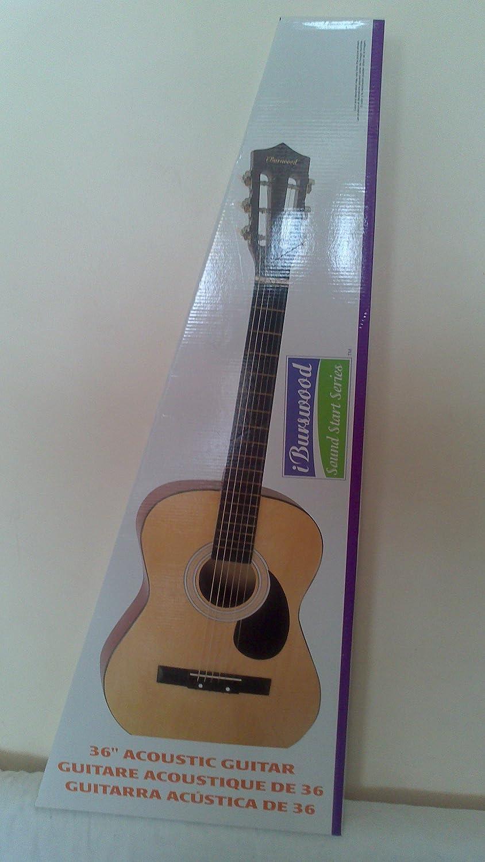 BURSWOOD 91,44 cm guitarra acústica - Los niños de instrumento de inicio ideal: Amazon.es: Instrumentos musicales