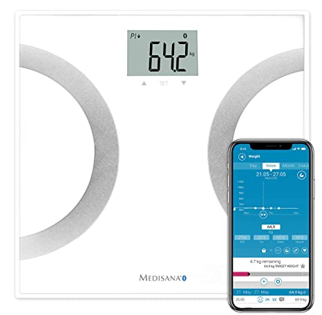 Medisana BS 445 - Báscula digital de baño con funciones de análisis y bluetooth