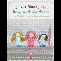 Onesie Bunny Girls Amigurumi Crochet Pattern (English Edition)