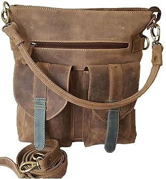 03f45b85adaf E.C.W Designer Luxury Leather Women s Handbag Shoulder Bag Vintage Crossbody  Satchel Laptop Tote Brown Purse Top
