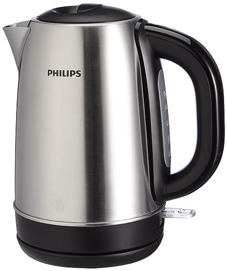 Philips HD9320/20 Hervidor Agua, 2200 W, 1.7 l, 1.7 litros, Acero Inoxidable, Negro, Metálico
