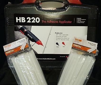 GLUE GUN KIT Pam by Fastenmester HB220 Hot Melt Glue Tool and 36 Glue Sticks Adhesive Guns & Dispensers