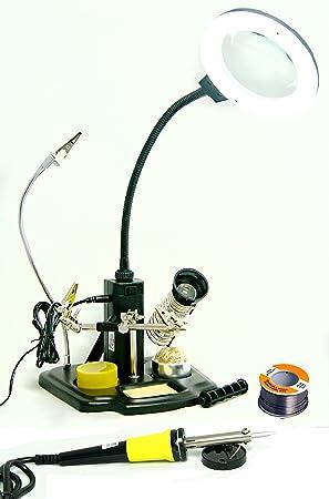 Set de soldador M. Soldador, LED de soldadura, estaño: Amazon.es: Electrónica