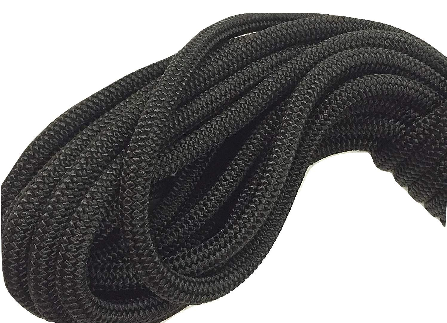 3/8'' Black Double Braided Nylon Anchor/Dock Line Rope, Available in 50', 100', 150' and 300' (50 ft. Hank)