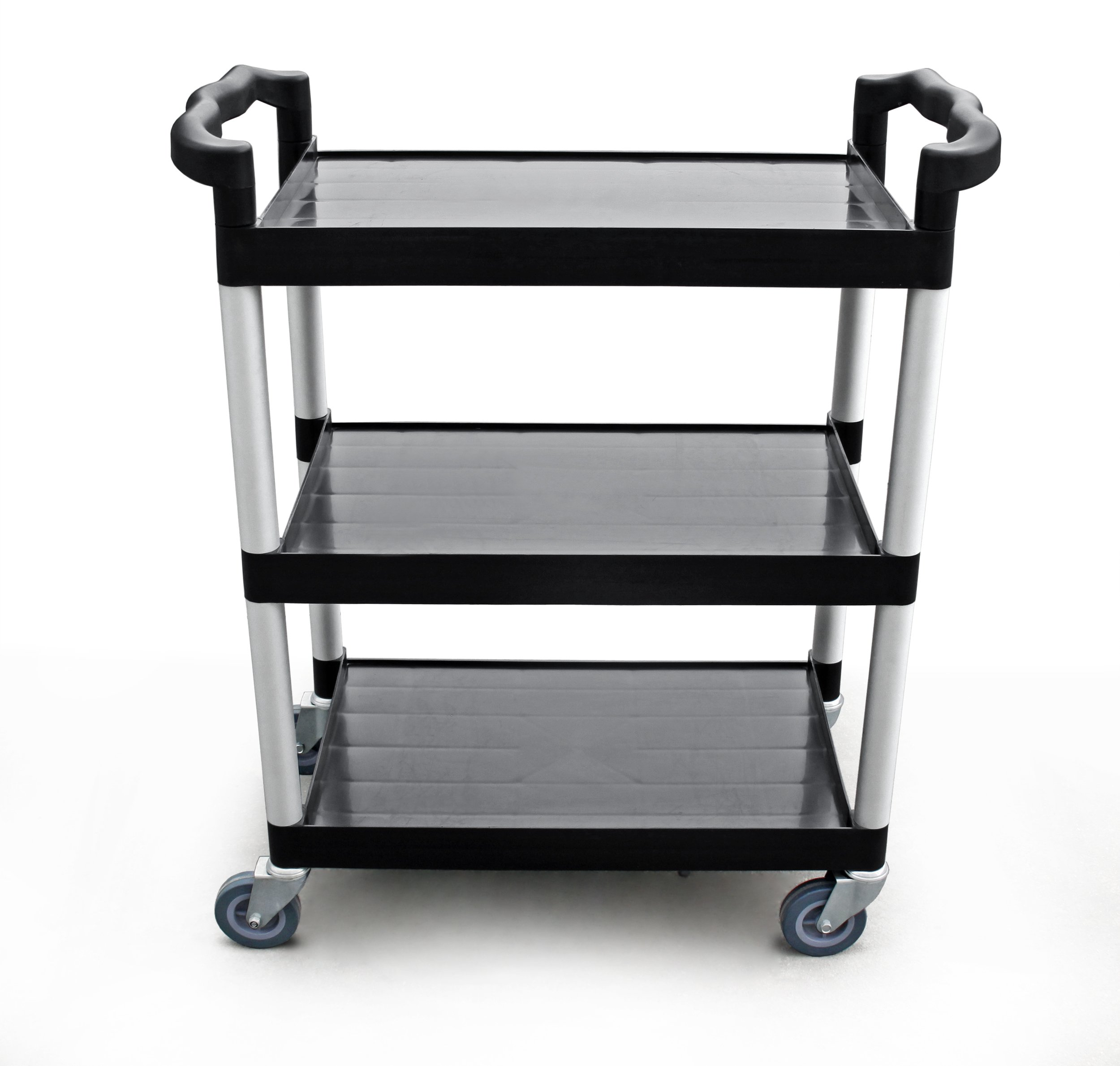 New Star 1 pc Heavy Duty Utility Cart Bus Cart 350 lbs Load 3 Tier Cart 42-1/2x19-1/2x38-1/2'' Black