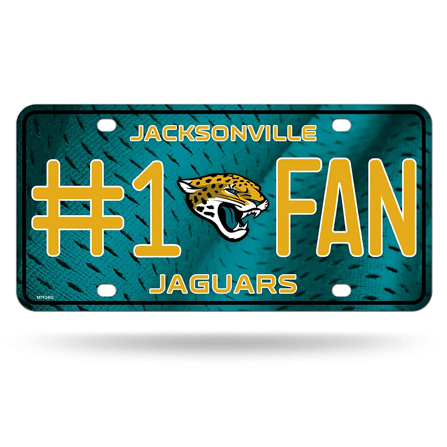 Rico Jaguars #1 Fan Metal Auto Tag
