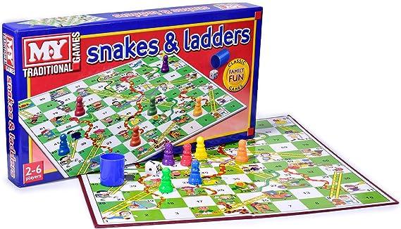 KT Serpientes y Escaleras Juego de Mesa Tradicional Juego de los niños: Amazon.es: Juguetes y juegos