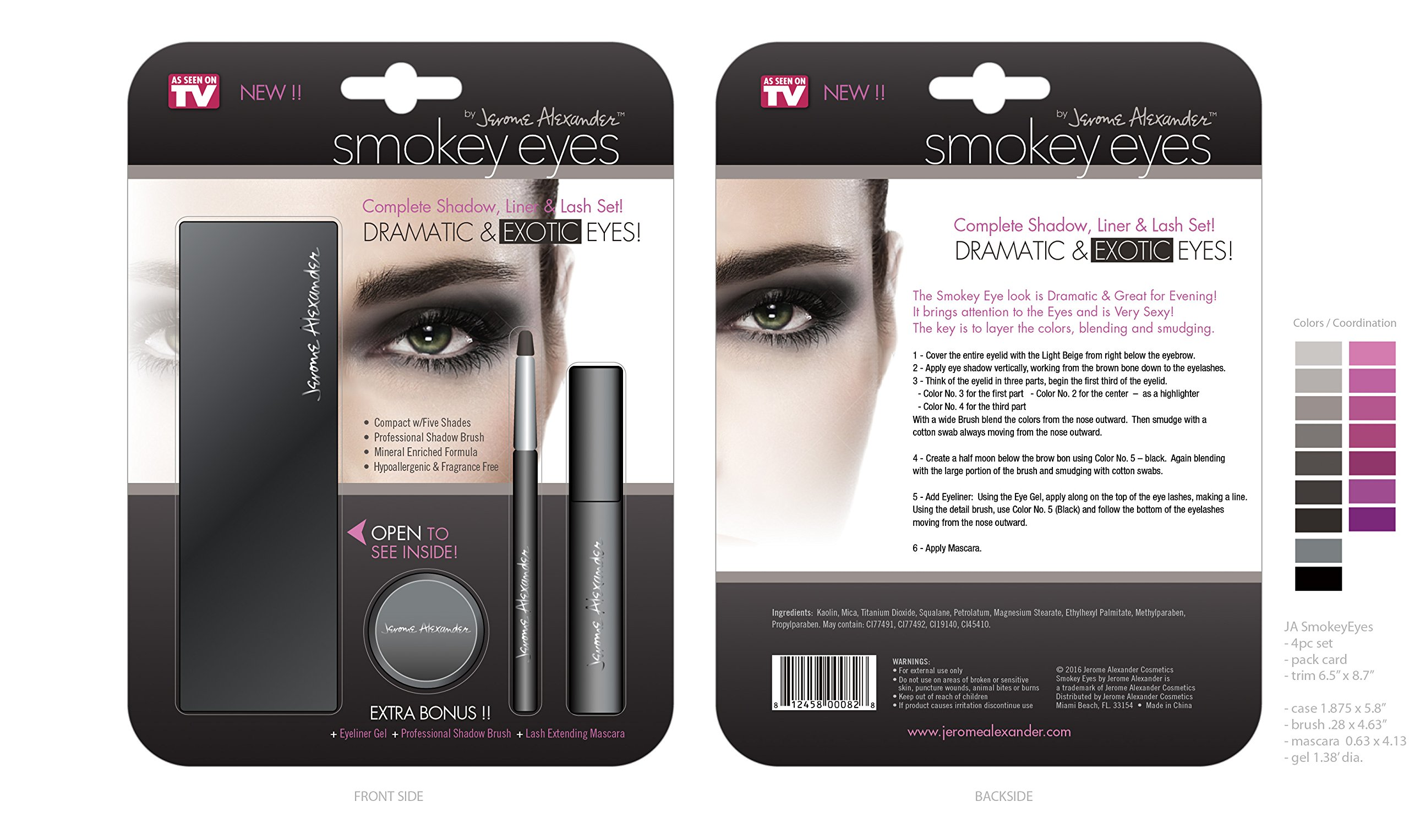 Jerome Alexander Magic Minerals Smokey Eyes - Eyeshadow Palette for Smoky Eyes