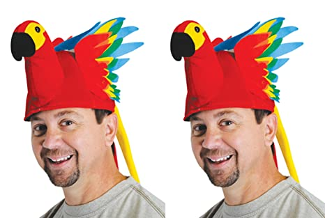 252c58ac32ac4 Amazon.com  Beistle S60201AZ2 Plush Parrot Hat 2 Piece Multicolored ...