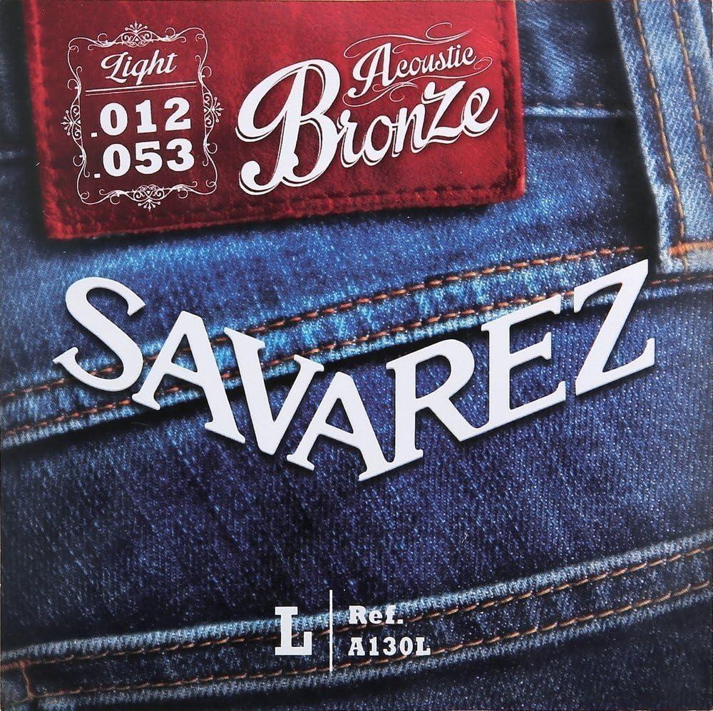 Savarez Cuerdas para Guitarra acústica juego acoustic bronze extra light .010-.047w A130XL