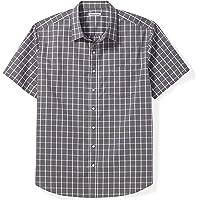 Amazon Essentials Camisa a cuadros de manga corta grande y alto Camisa de botones para Hombre