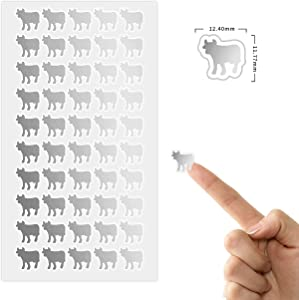 50 Wedding Meal Stickers for Place Cards - Place Card Menu Choices - Wedding Meal Choice Stickers (Silver, Beef)