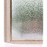 Cheelom Película para Ventana de 45X200 CM. para decoración y la privacidad, estática, 3D, Autoadhesiva para luz UV, Bloqueo