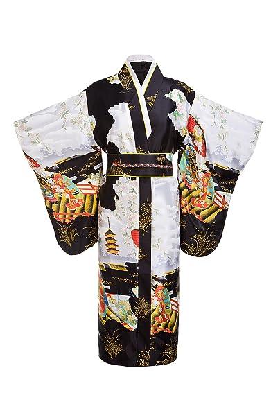 c668faa524 Image Unavailable. Image not available for. Color  Women s Traditional  Japanese Robe Kimono Robe Yukata ...