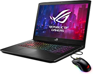 "ASUS ROG Strix SCAR Edition Gaming Laptop, 17.3"" 120Hz Full HD 3ms, Intel Core i7-8750H, GeForce GTX 1050 Ti 4GB, 16GB DDR4, 256GB SSD + 1TB FireCuda, Windows 10, Gaming Mouse Included, GL703GE-IS74"