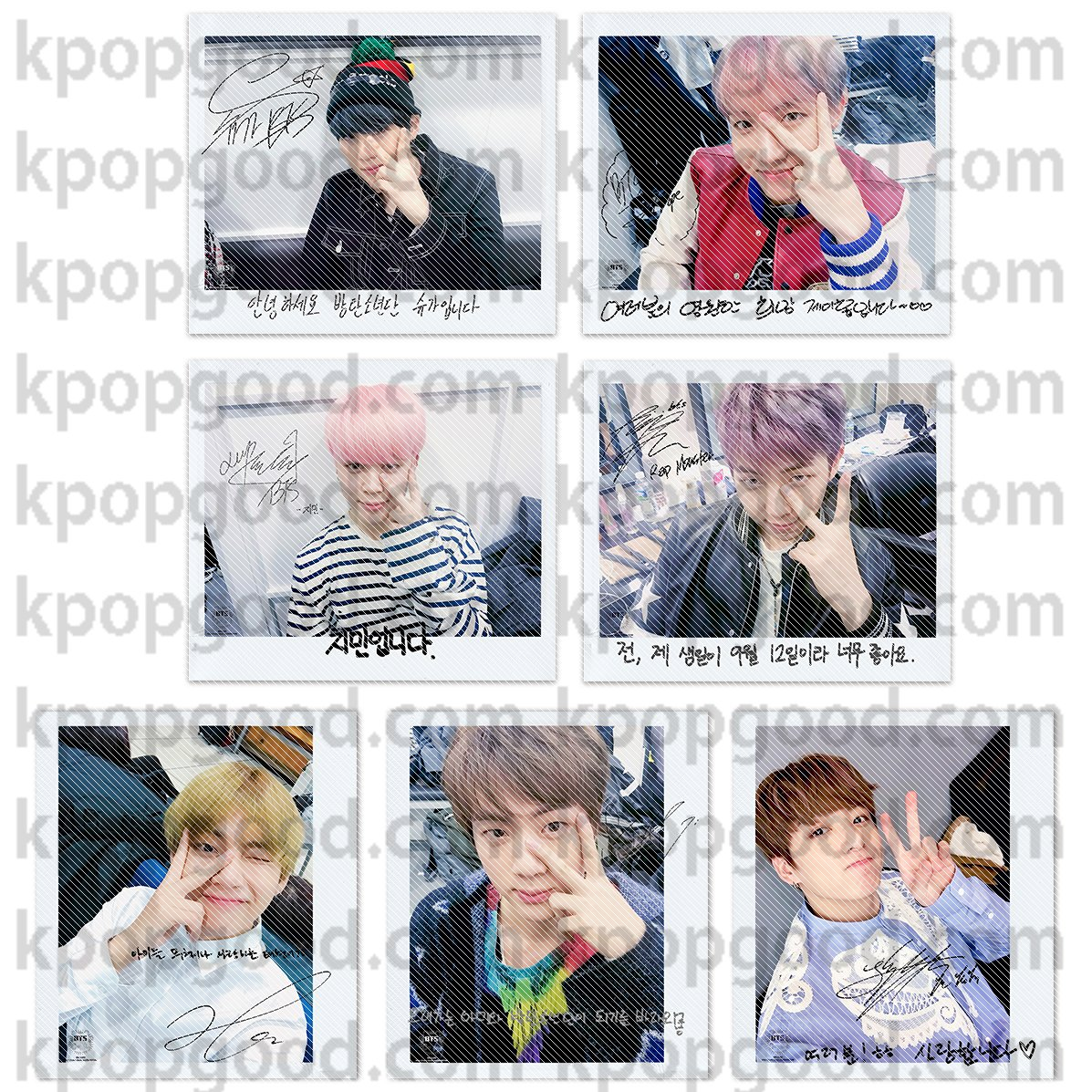 BTS bangtan boys you never walk alone like a v wide polaroid photo set