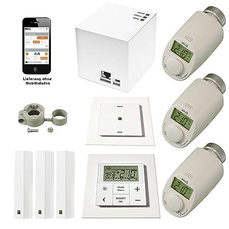 1d95f7c5013 komforthaus MAX Mega-Starter Set (German Import)Intelligent wireless  heating control via PC