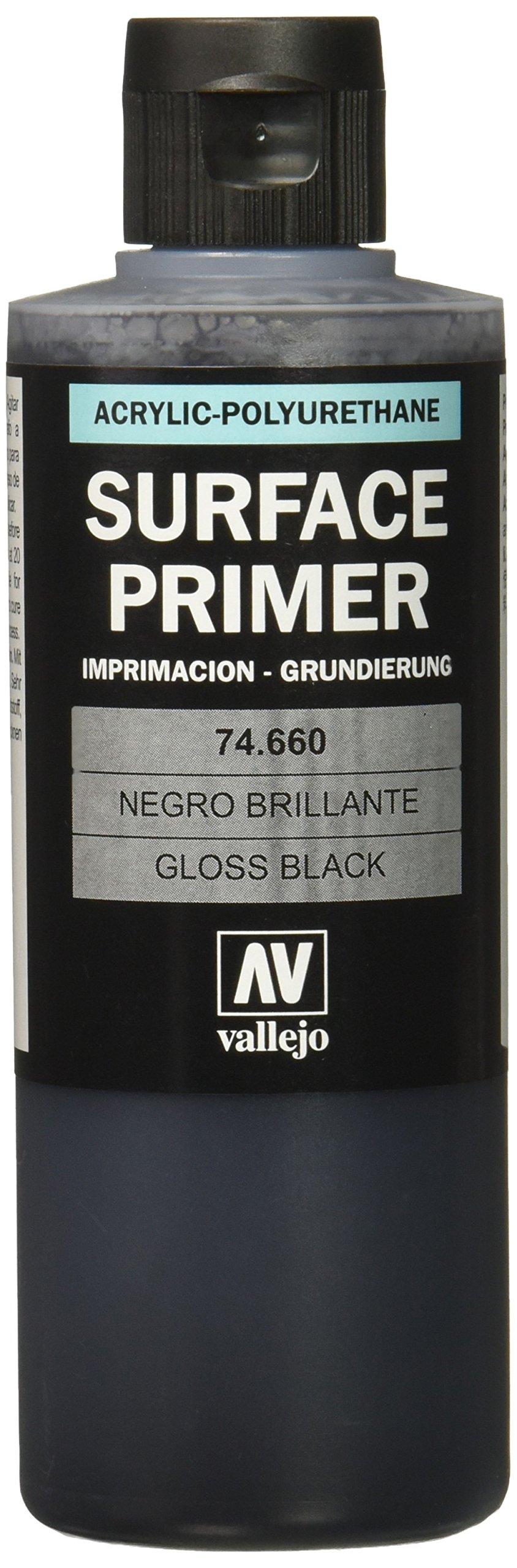 Vallejo Gloss Black Primer 200ml Paint