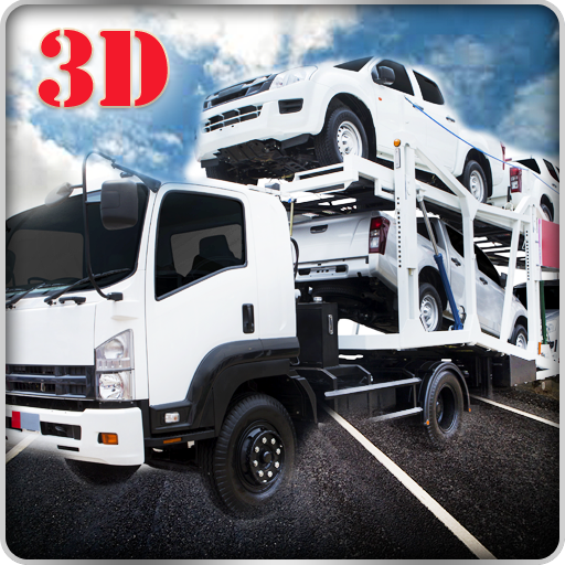 Heavy Trailer Cargo Truck Transporter Simulator 3D: Transport Furious & Fast Racing Cars In Offroad Driving Parkig Simulation Games Free For Kids 2018 ()