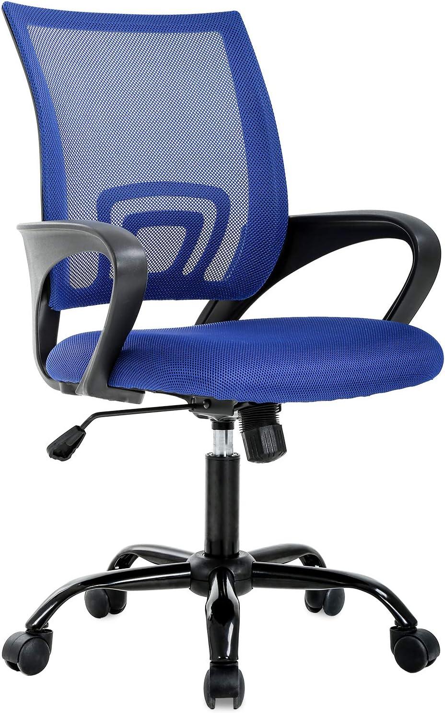 Ergonomic Office Chair Desk Chair Mesh Computer Chair Back Support Modern Executive Adjustable Chair Task Rolling Swivel Chair for Women, Men(Blue)