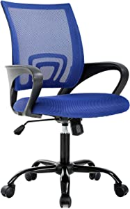Ergonomic Office Chair Desk Chair Mesh Computer Chair Back Support Modern Executive Adjustable Chair Task Rolling Swivel Chair for Women, Men(Blue)
