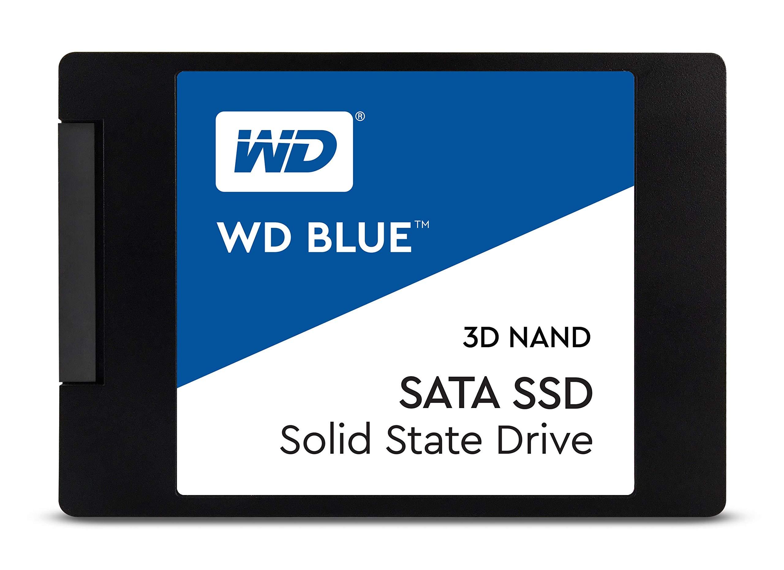 WD Blue 3D NAND 1TB Internal PC SSD - SATA III 6 Gb/s, 2.5''/7mm, Up to 560 MB/s - WDS100T2B0A by Western Digital
